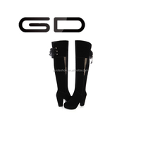 GD new arrival Autumn Winter Boots side zipper gold heel high heel long shoes women thigh high boots