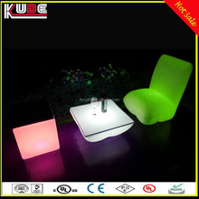 Modern Outdoor Lounge Glowing Hard Plastic Furniture With Remote Control
