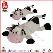 Plush cow pencil case stuffed soft pen case for kids customized pen case