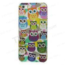 For iPhone 5s 5 Multi Owls Pattern IMD Hard Back Case