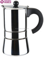 High Quality Wholesale 3 Cups Stove Top Stainless Steel Vacuum Cooks Coffee Espresso Maker