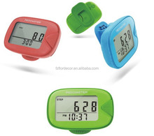 multifunctional pedometer with large LCD display promotional pedometer with clip novelty step/distance/calorie counter