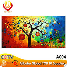 new popular design DIY canvas paintings abstract tree