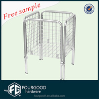 metal chrome wire display rack for supermarket/shopping basket