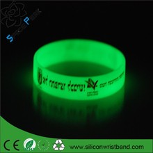 Factory custom Silicone debossed print wrist band | debossed inkfilled silicone wristbands |silicone bracelets glow in the dark
