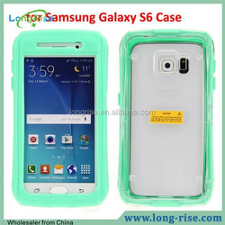 High Quality PC+Silicone Case Cover for Samsung Galaxy S6 S6 Edge Waterproof Case with Strap