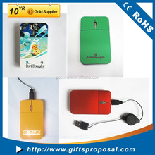 Factory Supply Promotional Flat Mini 2.4G Optical Mouse, Computer Mouse, Wired Mouse