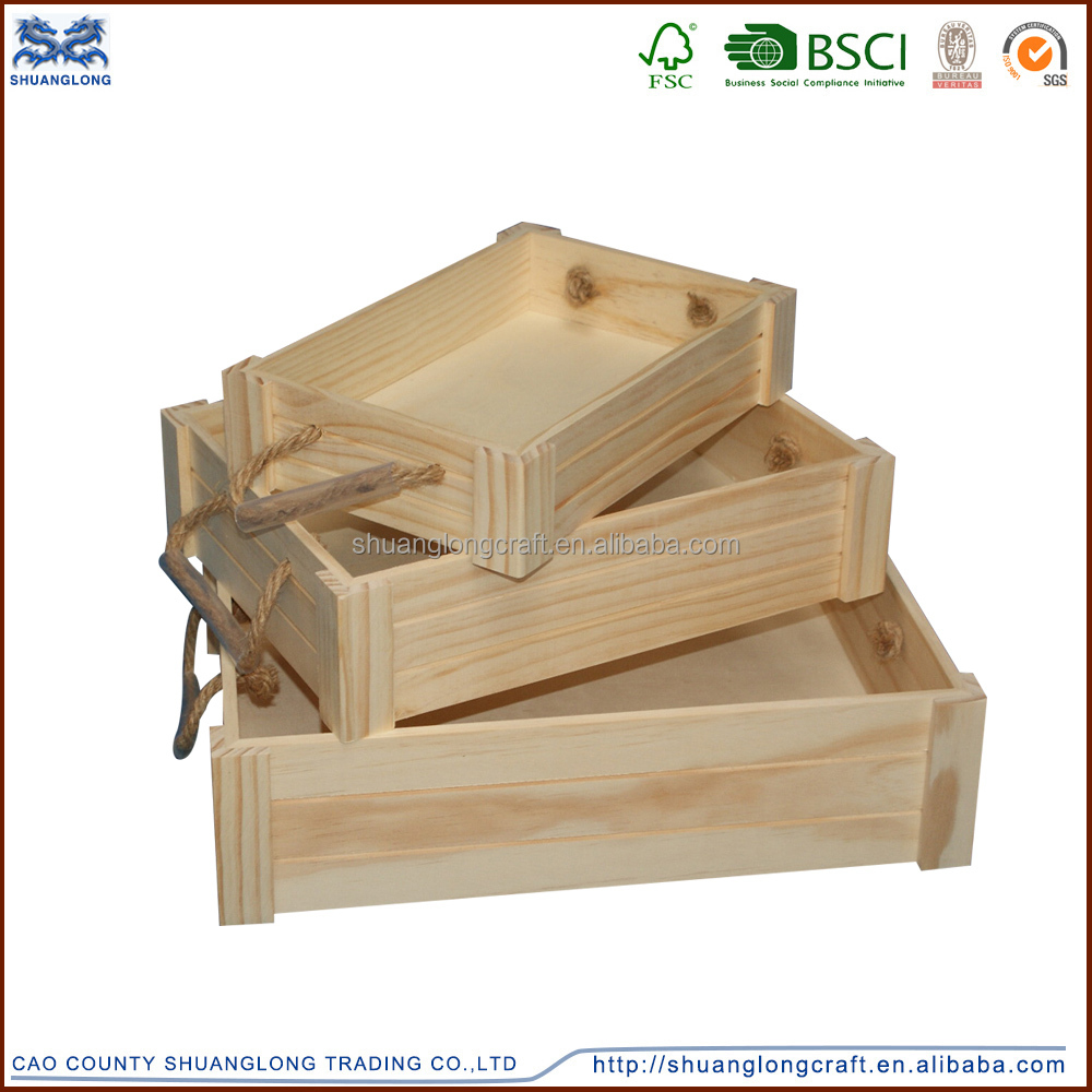 Wooden wine crates used wooden wine crate unfinished hot sale wooden