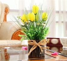 Artificial flower hanging basket flower vine plastic artificial plants Ivy Garland