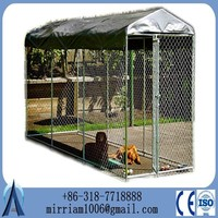design high quality unique iron fence cheap chain link dog kennel