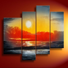Good credit wholesale in ShenZhen Sunrising landscape Group oil paintings
