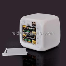 Digital LCD alarm clock with 7 color lights