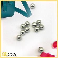 luxury wrist chains 8mm engraved metal logo custom logo beads