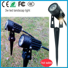 led garden/lawn light 3w cob AC220V/DC12V Green/yellow/blue/red