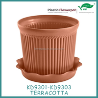 KD9301-KD9303 mini clay flower pots