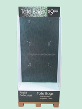 Tote bags 6 hooks paper display stands with a cardboard pallet