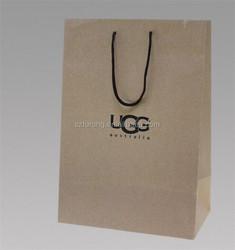 block bottom brown kraft paper bag