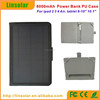 2015 hot new products china supplier with charging cable 8000mAh solar case for tablet