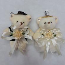 Custom Animals classic white plush wedding bear