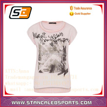 Stan Caleb 2015 new style most popular girl t shirt with pink color