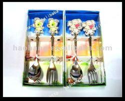 hot sale!! gold flatware, child sized flatware, decorative flatware