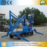 8 m diesel power self propelled mobile man lift crane