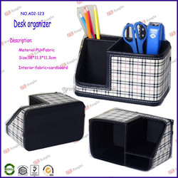 high quality wholesale office stationery luxury desk set for fabric desk organizer A02-123
