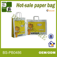 Wholesale cheap flat handle paper grocery bags