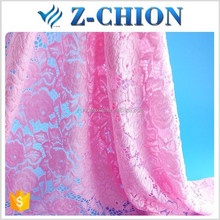 Super quality Fujian factory nylon elastic rose flower embroidery french lace fabric