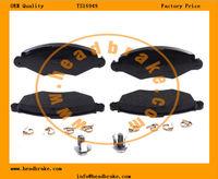 OE 4252 12 brake pads for peugeot 206