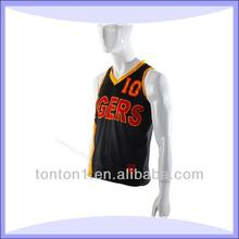 sublimation new college design basketball jersey