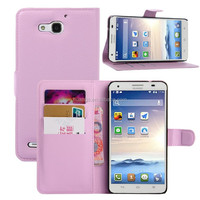 for huawei g750 case, Litchi Design With Credit Card Sltos Wallet Stand Flip Leather Cover Case for Huawei G750