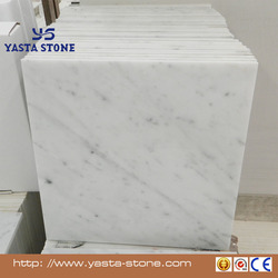 New arrival polished carrara white marble tile cost