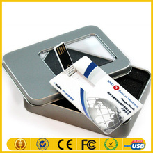 Best promational gift 2g 4g 8g business credit card usb flash drive with full color printing