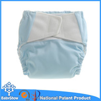 Babyshow 2014 new private label washable velcro cloth nappies cloth diaper sweety