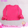 Wholesale persnickety baby girls blank ruffle long sleeve t shirt , boutique girls tops