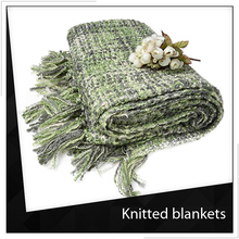 Free Sample Knitted Acrylic Queen Blanket