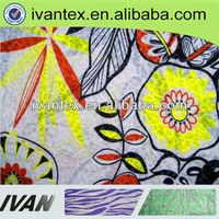 Knitting polyester cotton printing T/C printed burnout fabric