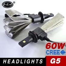 2015 newest G5 led bulb 6500k 3000lm hi low beam h13 car led headlight