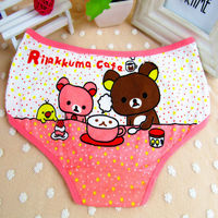 3959 bear 95% cotton 5% spandex machin make young girl cute underwear children's thong for girl 10year china export to CMR
