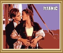 40*50cm Titanic classic dance couple painting, oil painting by number