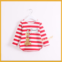 100% cotton children clothes lovely cartoon print girl clotheshot selling girls stylish t-shirt