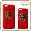 Luxury Red Color Lion Adornment Genuine Real Python Leather Cell Phone Mobile Phone Case Shell for Iphone 6 or for Iphone6 Plus