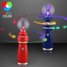 Flashlight Toys Led Light Up Magic Wand with music Crystal Ball Magic Spinning disks Led Toy