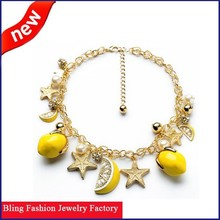 Wholesale European and American charm new design fruit fashion necklace