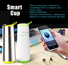 2015 HOT sale mug and coaster set china cup smart cup bluetooth with CE and ROHS compliance