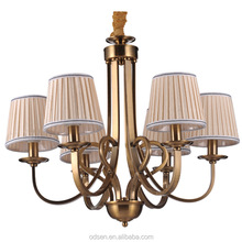 bronze plating antique finished used chandelier lighting for indoor rooms