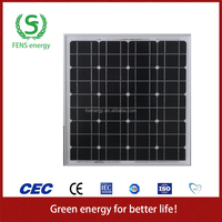 High quality 50w TUV/CE/IEC/MCS Approved Mono Crystalline Solar Panel,Mono Solar Module Use,Solar Power System Use