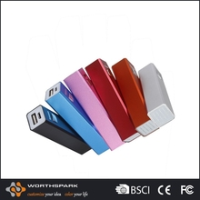 New design Silver 18650 lithium-ion battery power bank