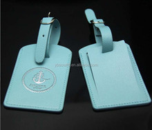 pu luggage tag custom pu leather luggage tag wholesale